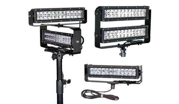 led scene lighters   single tier